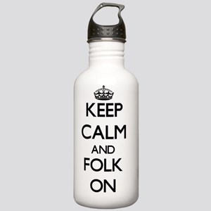 Keep Calm and Folk ON Stainless Water Bottle 1.0L
