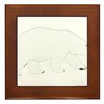 Polar Bear Walking Framed Tile