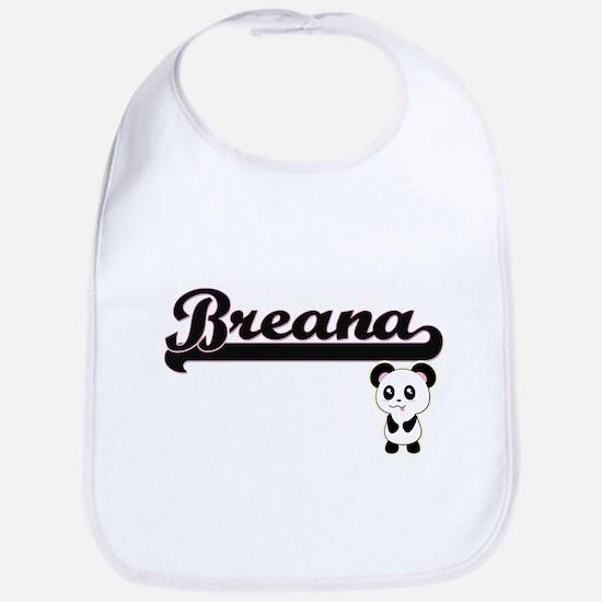 Breana Classic Retro Name Design with Panda Bib