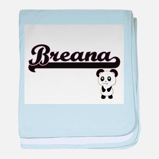 Breana Classic Retro Name Design with baby blanket