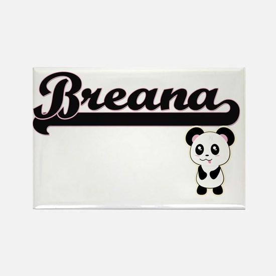 Breana Classic Retro Name Design with Pand Magnets