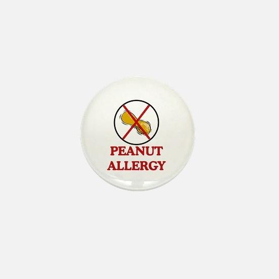 NO PEANUTS Peanut Allergy Mini Button