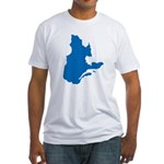 Map alone Fitted T-Shirt