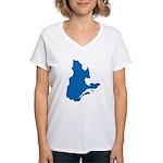 Map alone Women's V-Neck T-Shirt