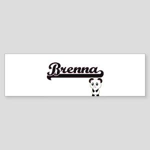Brenna Classic Retro Name Design wi Bumper Sticker
