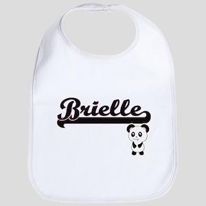 Brielle Classic Retro Name Design with Panda Bib