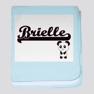 Brielle Classic Retro Name Design wit baby blanket