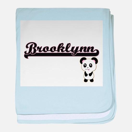 Brooklynn Classic Retro Name Design w baby blanket