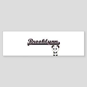 Brooklynn Classic Retro Name Design Bumper Sticker