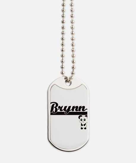 Brynn Classic Retro Name Design with Pand Dog Tags