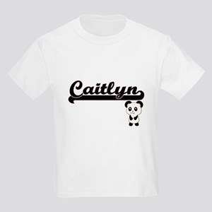 Caitlyn Classic Retro Name Design with Pan T-Shirt