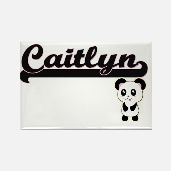 Caitlyn Classic Retro Name Design with Pan Magnets