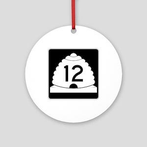 State Route 12, Utah Ornament (Round)