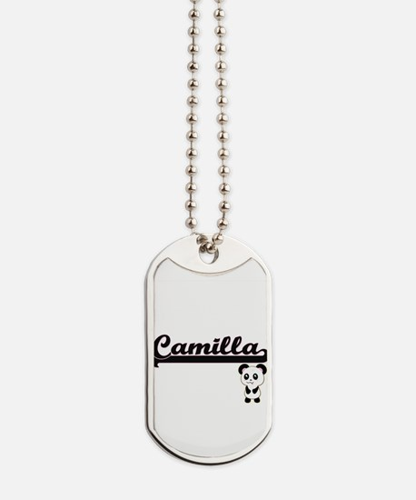 Camilla Classic Retro Name Design with Pa Dog Tags