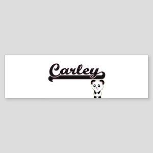 Carley Classic Retro Name Design wi Bumper Sticker