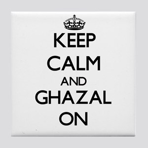 Keep Calm and Ghazal ON Tile Coaster
