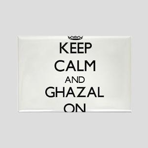 Keep Calm and Ghazal ON Magnets