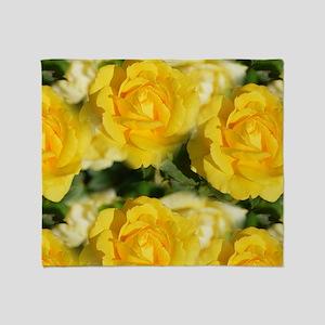 Yellow Roses Throw Blanket