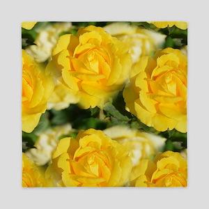 Yellow Roses Queen Duvet