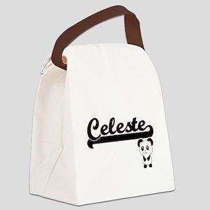 Celeste Classic Retro Name Design Canvas Lunch Bag