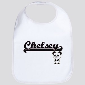 Chelsey Classic Retro Name Design with Panda Bib