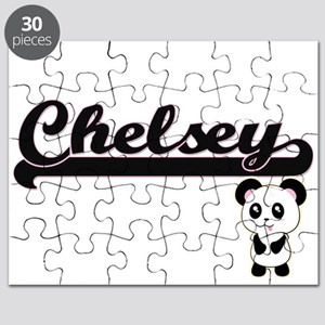 Chelsey Classic Retro Name Design with Pand Puzzle