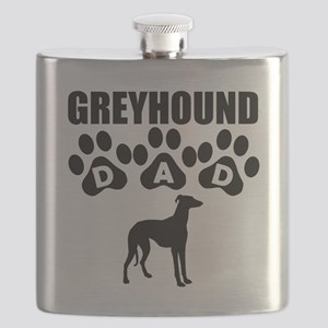 Greyhound Dad Flask
