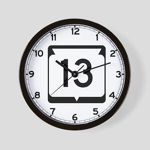 Highway 13, Wisconsin Wall Clock