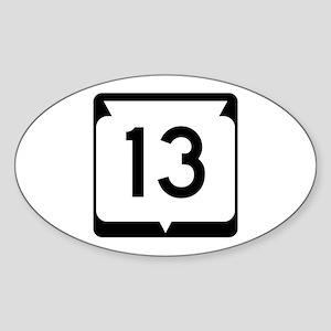 Highway 13, Wisconsin Sticker (Oval)