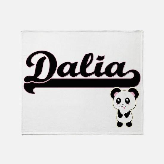 Dalia Classic Retro Name Design with Throw Blanket