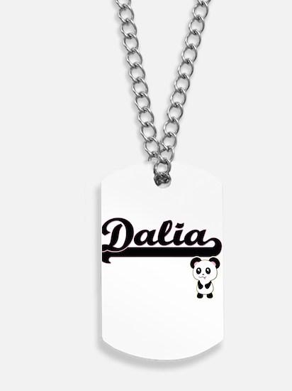 Dalia Classic Retro Name Design with Pand Dog Tags
