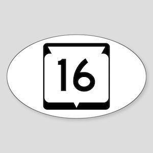 Highway 16, Wisconsin Sticker (Oval)