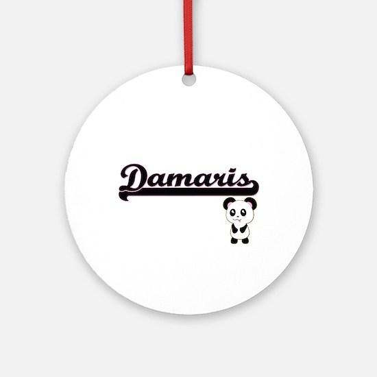 Damaris Classic Retro Name Design Ornament (Round)