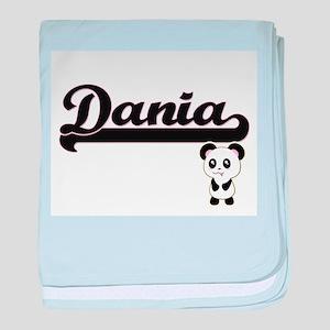 Dania Classic Retro Name Design with baby blanket