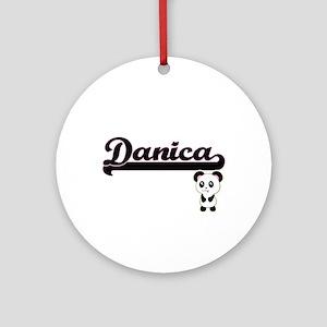 Danica Classic Retro Name Design Ornament (Round)