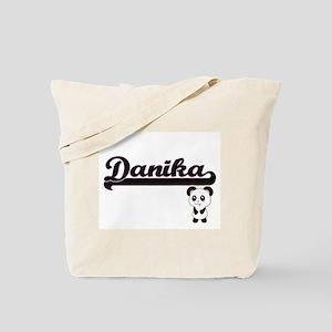 Danika Classic Retro Name Design with Pan Tote Bag