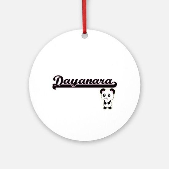 Dayanara Classic Retro Name Desig Ornament (Round)