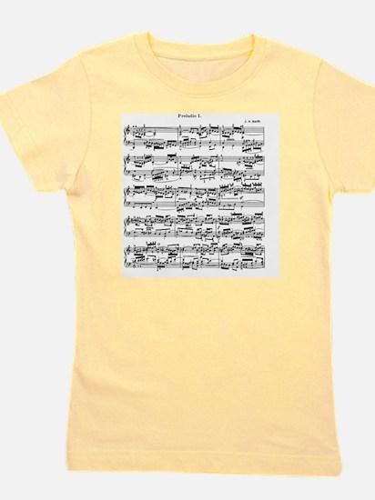 Sheet Music by Bach Girl's Tee