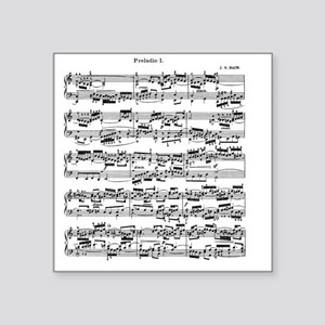 """Sheet Music by Bach Square Sticker 3"""" x 3"""""""