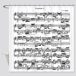 Sheet Music by Bach Shower Curtain