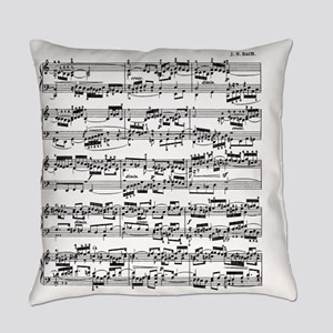 Sheet Music by Bach Everyday Pillow
