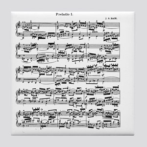 Sheet Music by Bach Tile Coaster