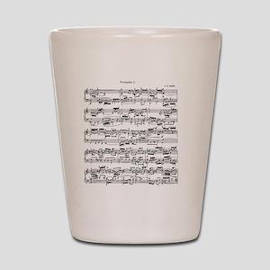 Sheet Music by Bach Shot Glass
