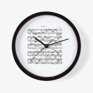 Sheet Music by Bach Wall Clock