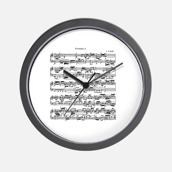 Sheet Music by Bach Wall Clock