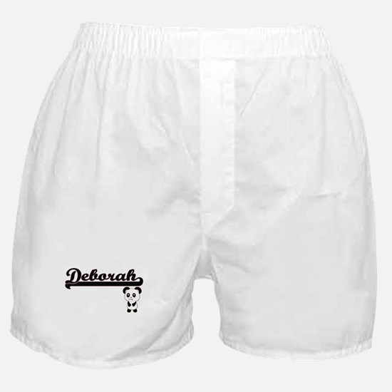 Deborah Classic Retro Name Design wit Boxer Shorts