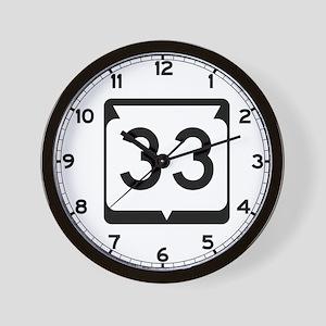 Highway 33, Wisconsin Wall Clock