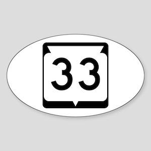 Highway 33, Wisconsin Sticker (Oval)