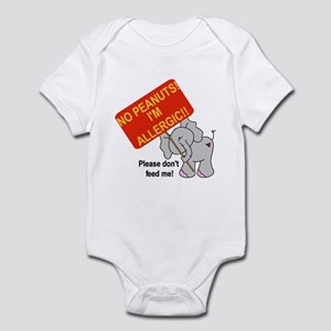 No Peanuts Elephant Infant Bodysuit