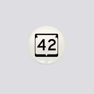 Highway 42, Wisconsin Mini Button